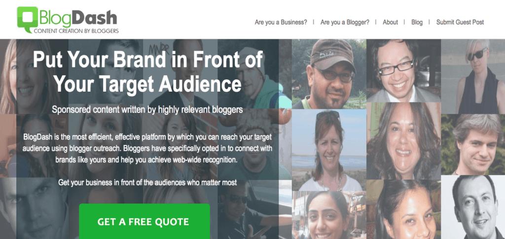 Verktøy for å sikre et event medie partnerskap: BlogDash