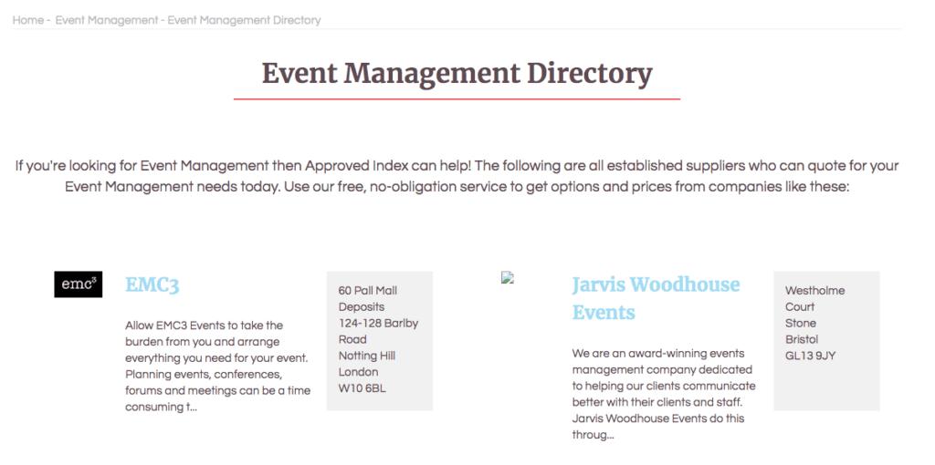 Spørsmål du bør stille en eventplanlegger: Approved Index.