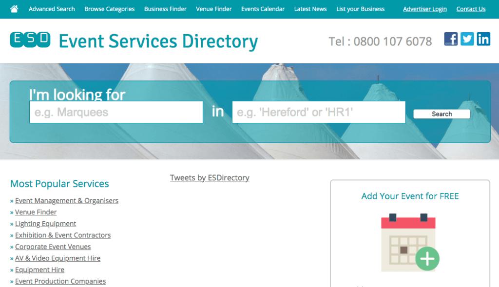 Spørsmål du bør stille en hendelsesplanlegger: Event Services Directory.